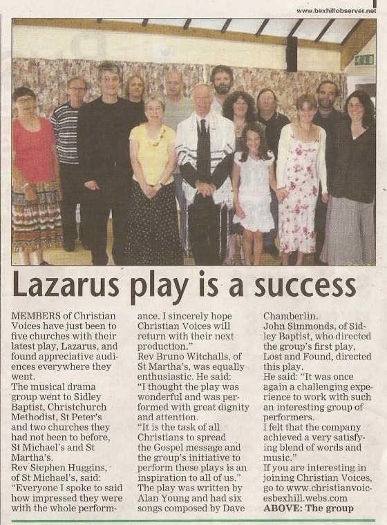 Bexhill Observer - Lazarus - Review - 20100806