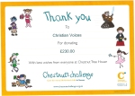 Certificate from Chestnut Tree House