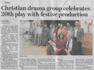 Bexhill Observer: Christian drama group celebrates 20th play with festive production