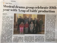 Bexhill Observer: Musical drama group celebrate 10th year with 'Leap of Faith'production