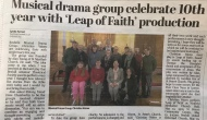 Bexhill Observer: Musical drama group celebrate 10th year with 'Leap of Faith' production